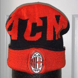 AC Milan soccer winter hat